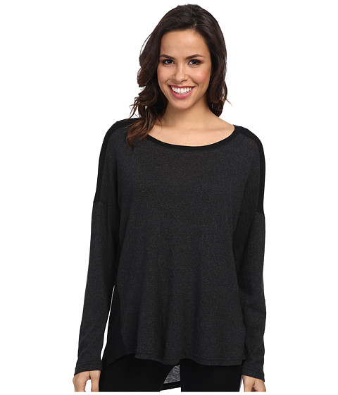 Allen Allen - Long Sleeve Scoop (Black) Women's Long Sleeve Pullover