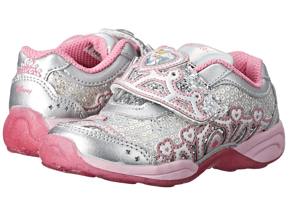 Stride Rite - Disney Wish Lights Cinderella A/C (Toddler) (Silver/Pink) Girls Shoes