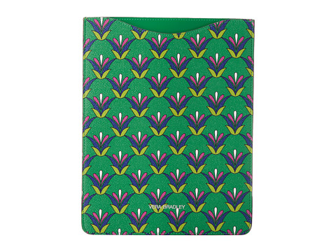 Vera Bradley Slim Tablet Sleeve (Emerald Diamonds) Computer Bags