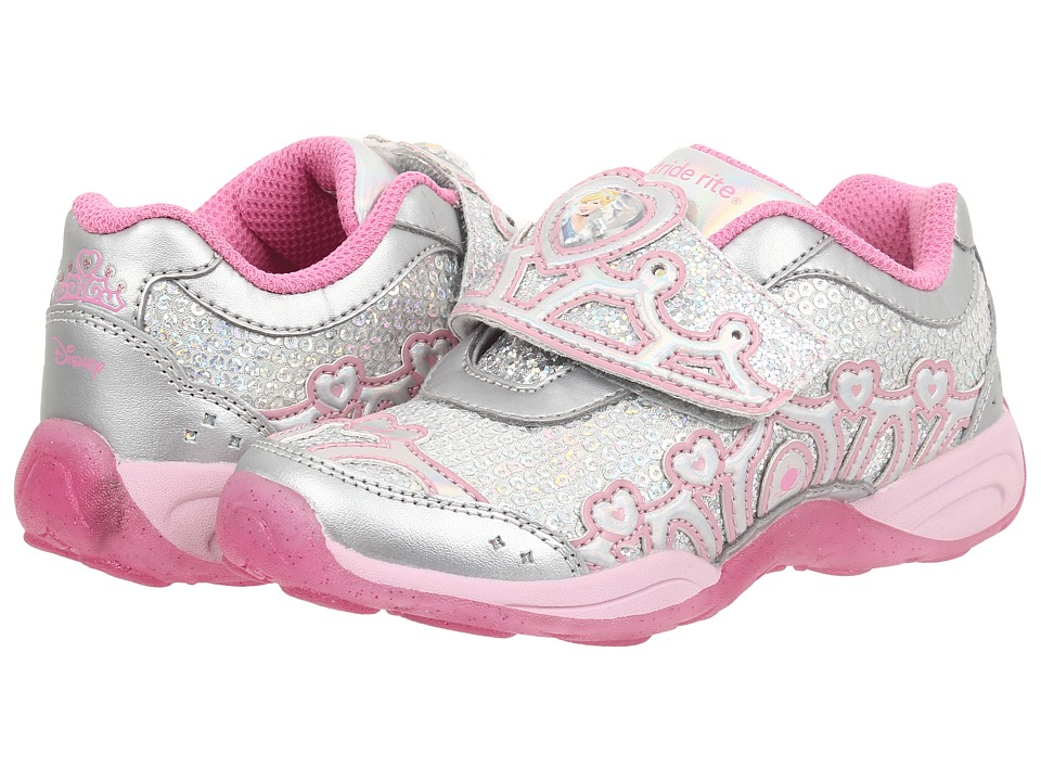 Stride Rite - Disney Wish Lights Cinderella A/C (Toddler/Little Kid) (Silver/Pink) Girls Shoes