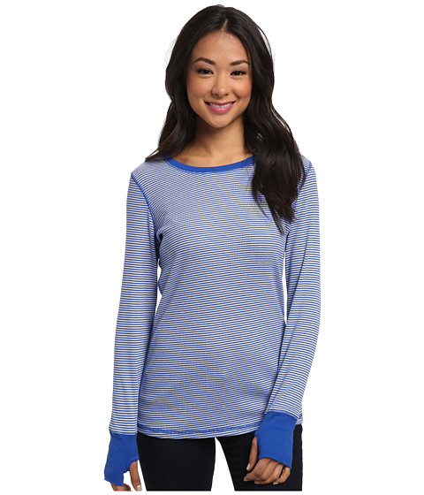 Allen Allen - Stripe Thumbhole Tee (Nautical) Women