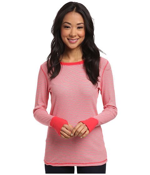 Allen Allen - Stripe Thumbhole Tee (Poppy) Women's T Shirt