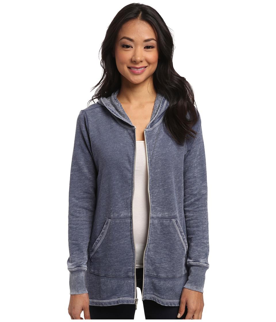 Allen Allen - Angled Zip Jacket (Lapis) Women's Sweatshirt