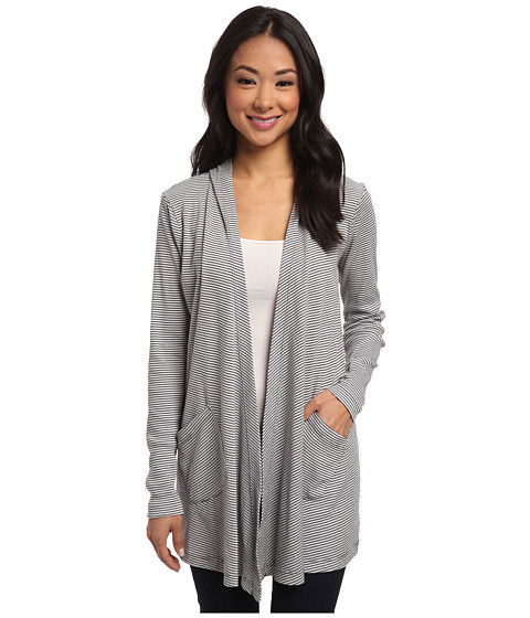 Allen Allen - Hooded Open Cardigan (Flint) Women's Sweater