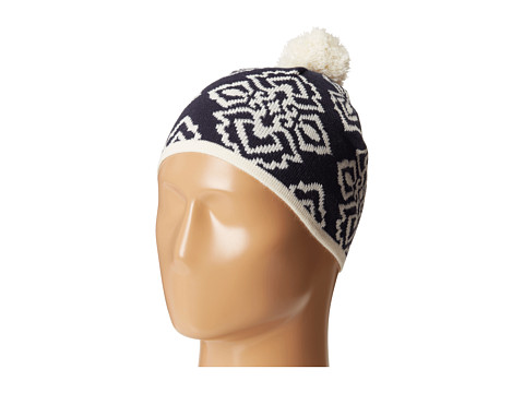 Vera Bradley - Pom Pom Knit Hat (Ink Blue) Knit Hats