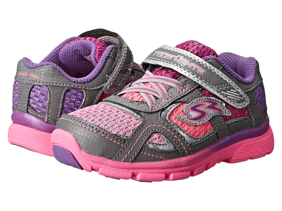 Stride Rite - Racer Lights Supersonic (Toddler) (Pink/Grey) Girls Shoes