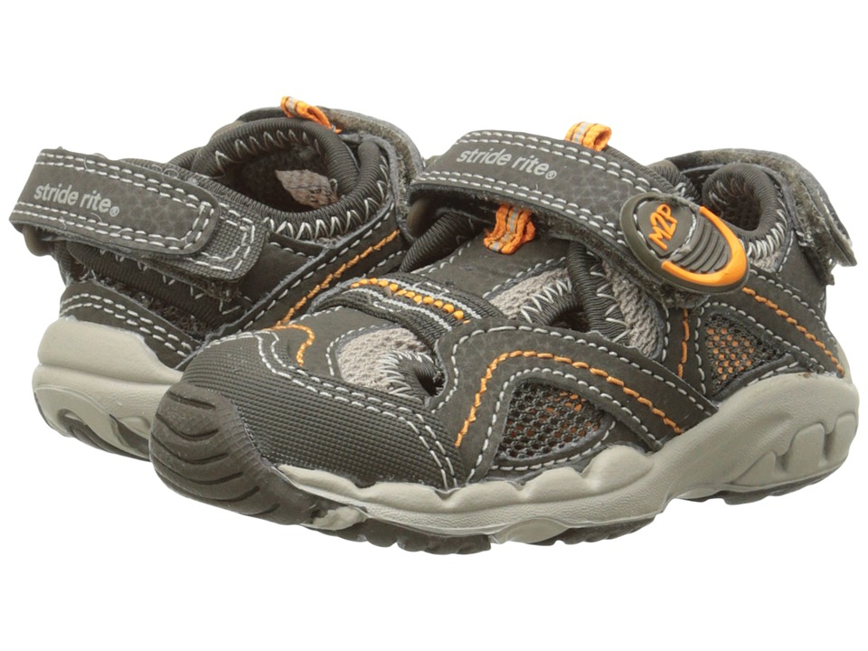 Stride Rite - M2P Baby Soni (Toddler) (Cinder/Taupe) Boys Shoes
