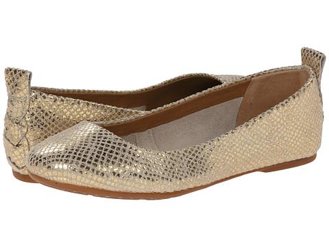 Born - Kady (White/Gold Metallic Snake) Women's Flat Shoes
