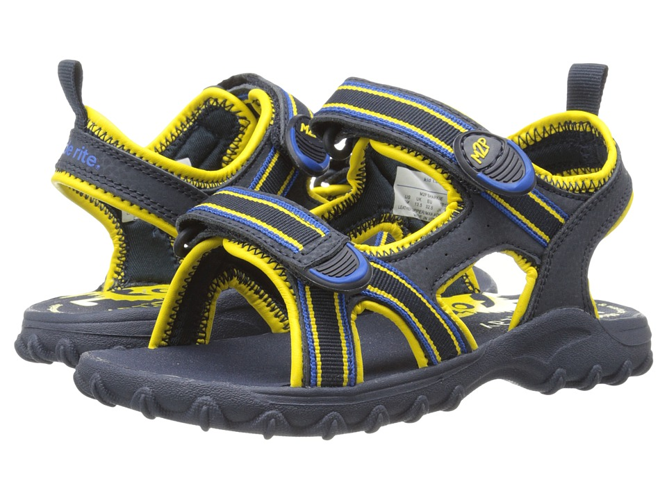 Stride Rite - M2P Sharkie (Little Kid/Big Kid) (Navy/Yellow) Boys Shoes