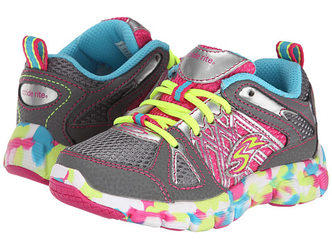 Stride Rite - Propel Lace (Toddler/Little Kid) (Grey/Multi) Girl
