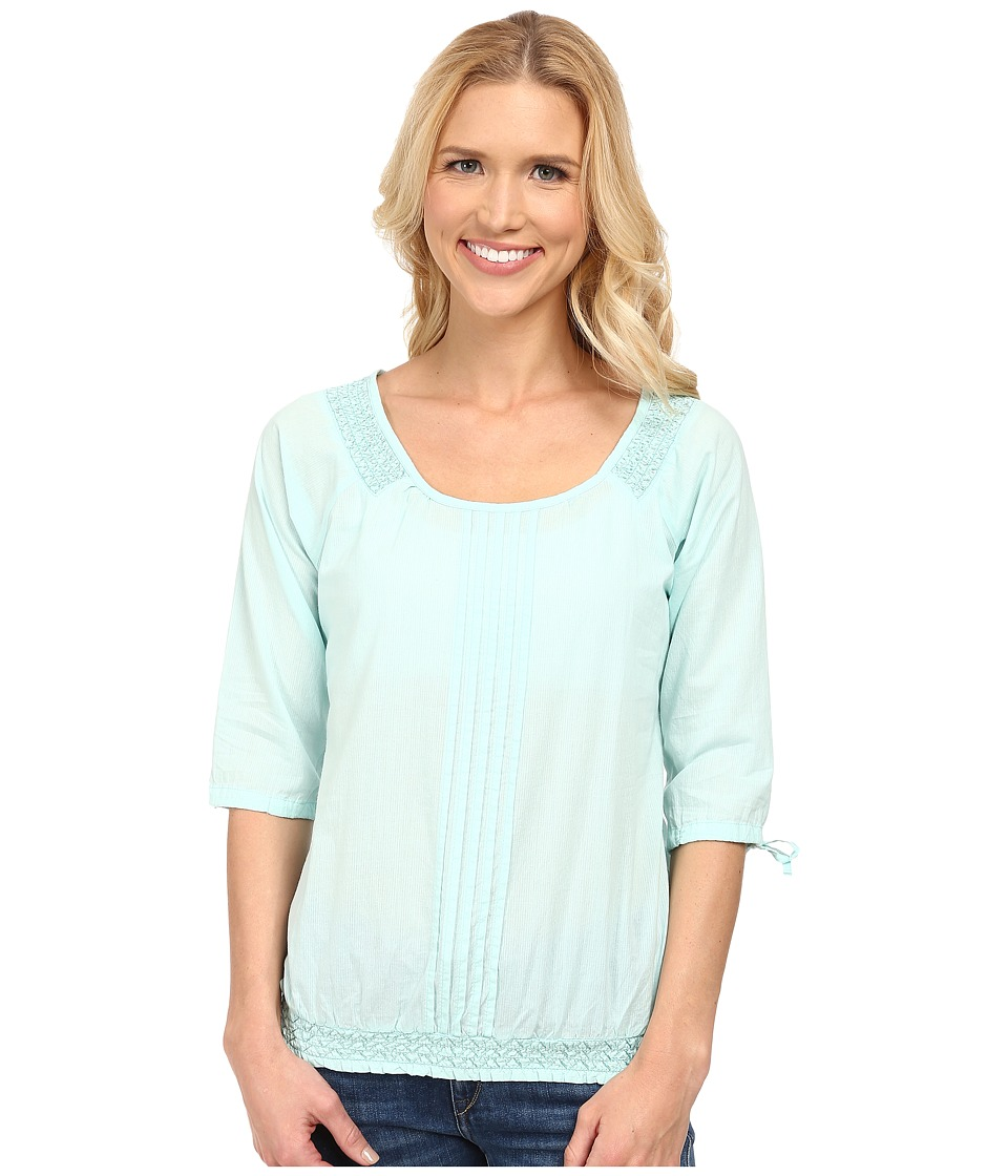 Aventura Clothing - Bevin Peasant Top (Blue Tint) Women's Long Sleeve Pullover