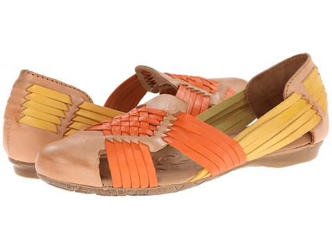 Born - Letitia (Tan/Naranja (Orange)/Amarillo (Yellow) Full-Grain Leather) Women's Flat Shoes