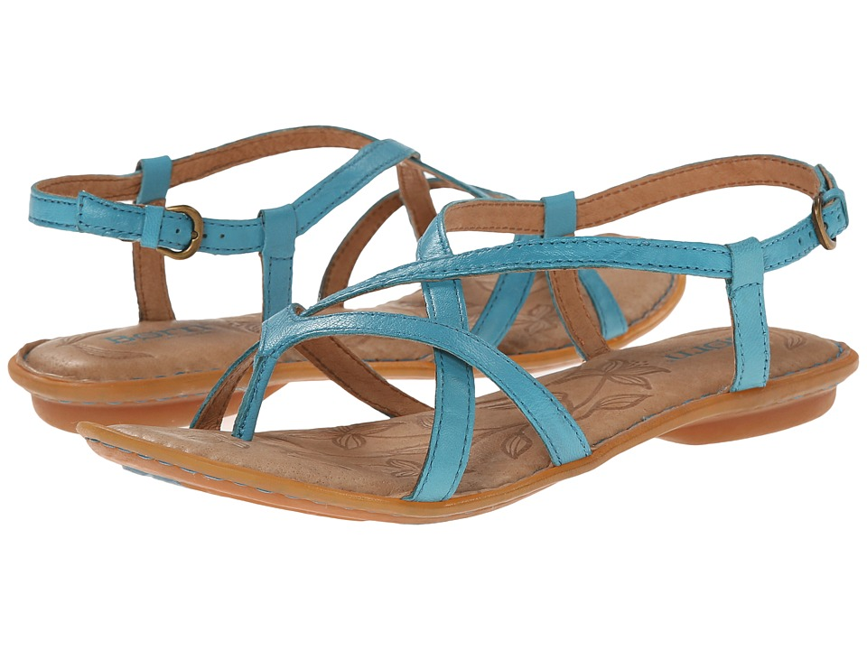 Born - Mai (Baby Blue Full-Grain Leather) Women's Sandals