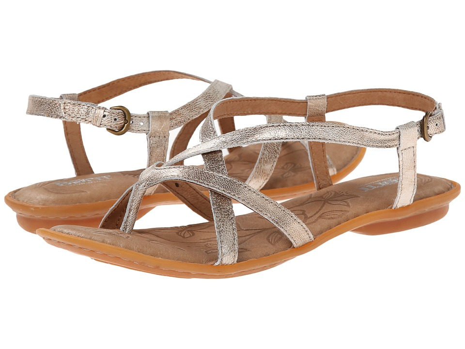 Born - Mai (Panna Cotta (Silver) Metallic) Women's Sandals