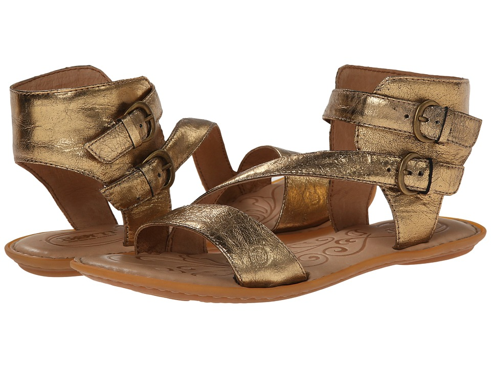 Born - Eva (Antique Gold Metallic) Women's Sandals