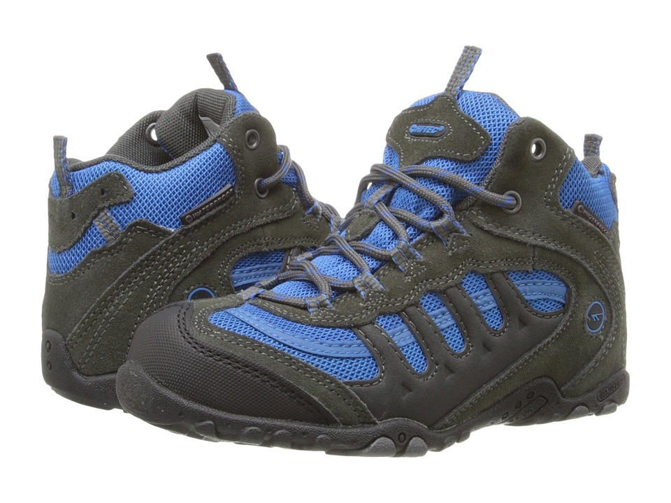 Hi-Tec Kids - Penrith Mid WP (Toddler/Little Kid/Big Kid) (Blue/Graphite/Cool Grey) Boys Shoes