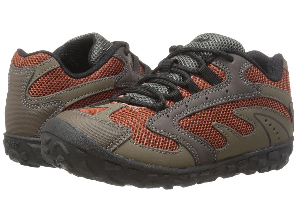 Hi-Tec Kids - Meridian (Toddler/Little Kid/Big Kid) (Smokey Brown/Taupe/Red Rk) Boy's Shoes