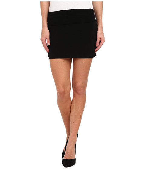KAMALIKULTURE by Norma Kamali - Go Mini Skirt (Black) Women's Skirt
