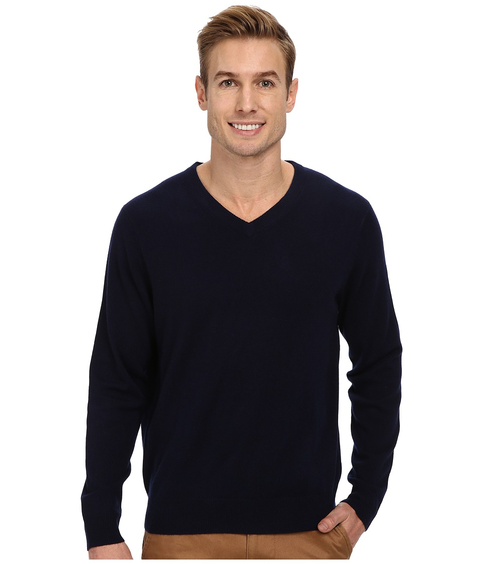 Vineyard Vines - Cashmere Blend V-Neck Sweater (Nautical Navy) Men