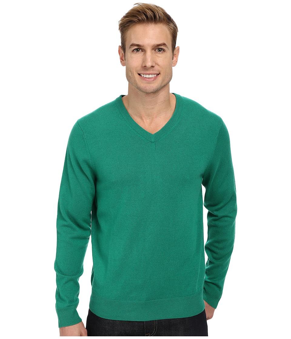 Vineyard Vines - Cashmere Blend V-Neck Sweater (Holly) Men's Sweater