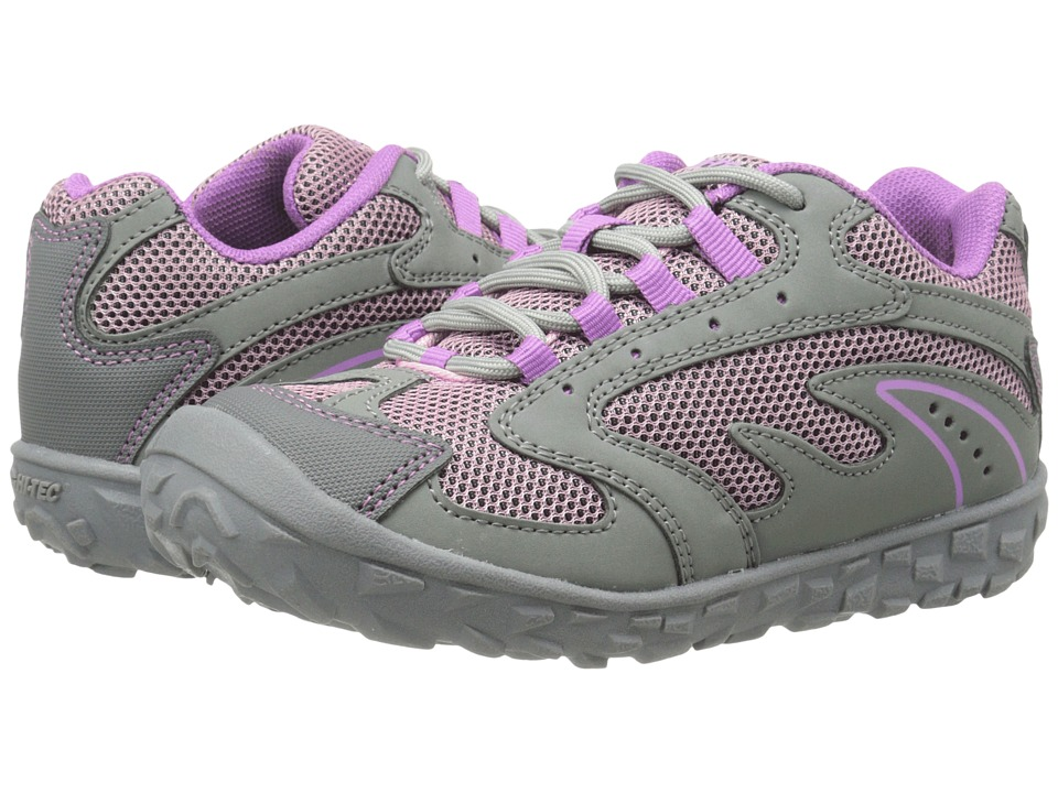 Hi-Tec Kids - Meridian (Toddler/Little Kid/Big Kid) (Steel Grey/Horizon/Orchid) Girl's Shoes
