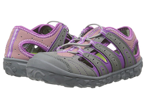 Hi-Tec Kids - Tortola Escape (Toddler/Little Kid/Big Kid) (Warm Grey/Orchid/Horizon) Girls Shoes