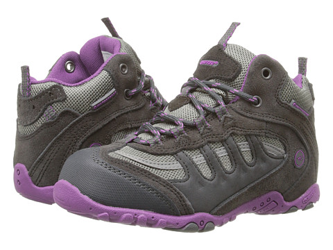 Hi-Tec Kids - Penrith Mid WP (Toddler/Little Kid/Big Kid) (Charcoal/Viola) Girl's Shoes