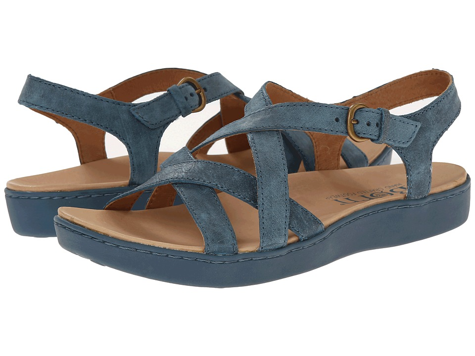 Born - Mahala (Marine (Light Blue) Full-Grain Leather) Women's Sandals