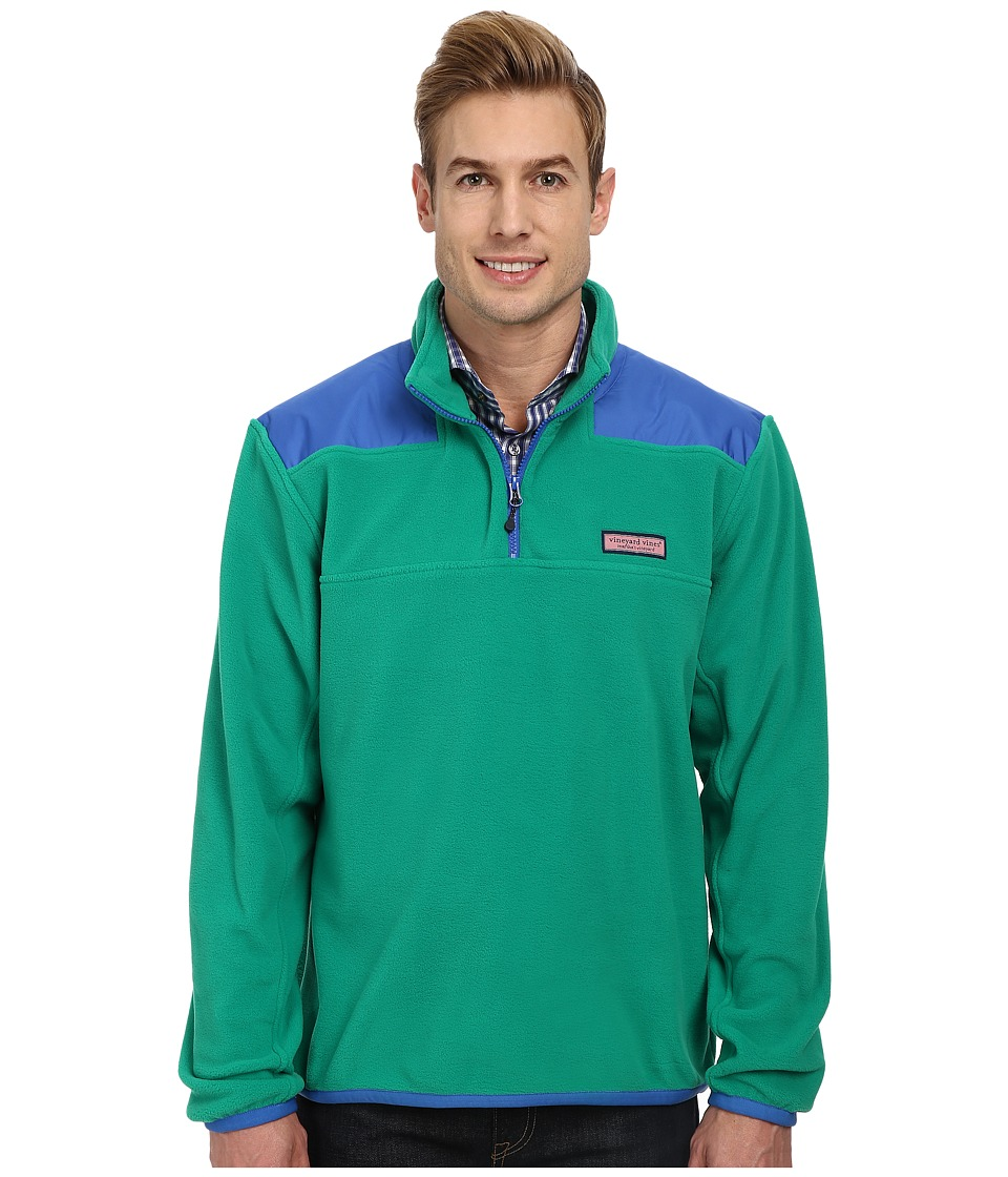 Vineyard Vines - Fleece Shep Shirt (Holly) Men's Long Sleeve Pullover