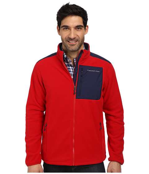 Vineyard Vines - Fleece Full Zip (Red Velvet) Men