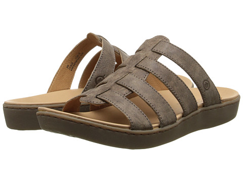 Born - Lynae (Mudd (Brown) Full-Grain Leather) Women's Sandals