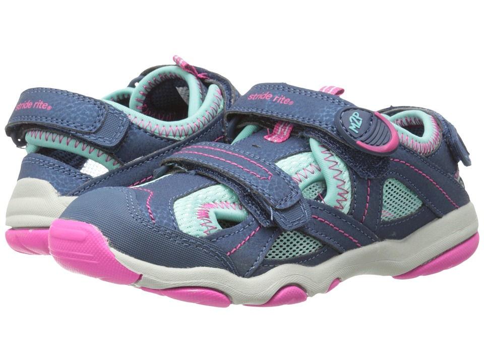 Stride Rite - M2P Sandy (Little Kid) (Navy/Turquoise) Girls Shoes