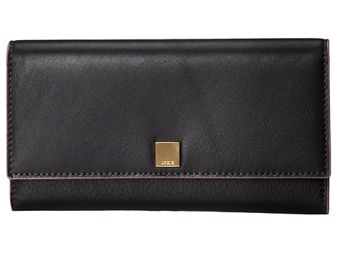 Lodis Accessories - Mill Valley Alix Trifold (Black) Clutch Handbags