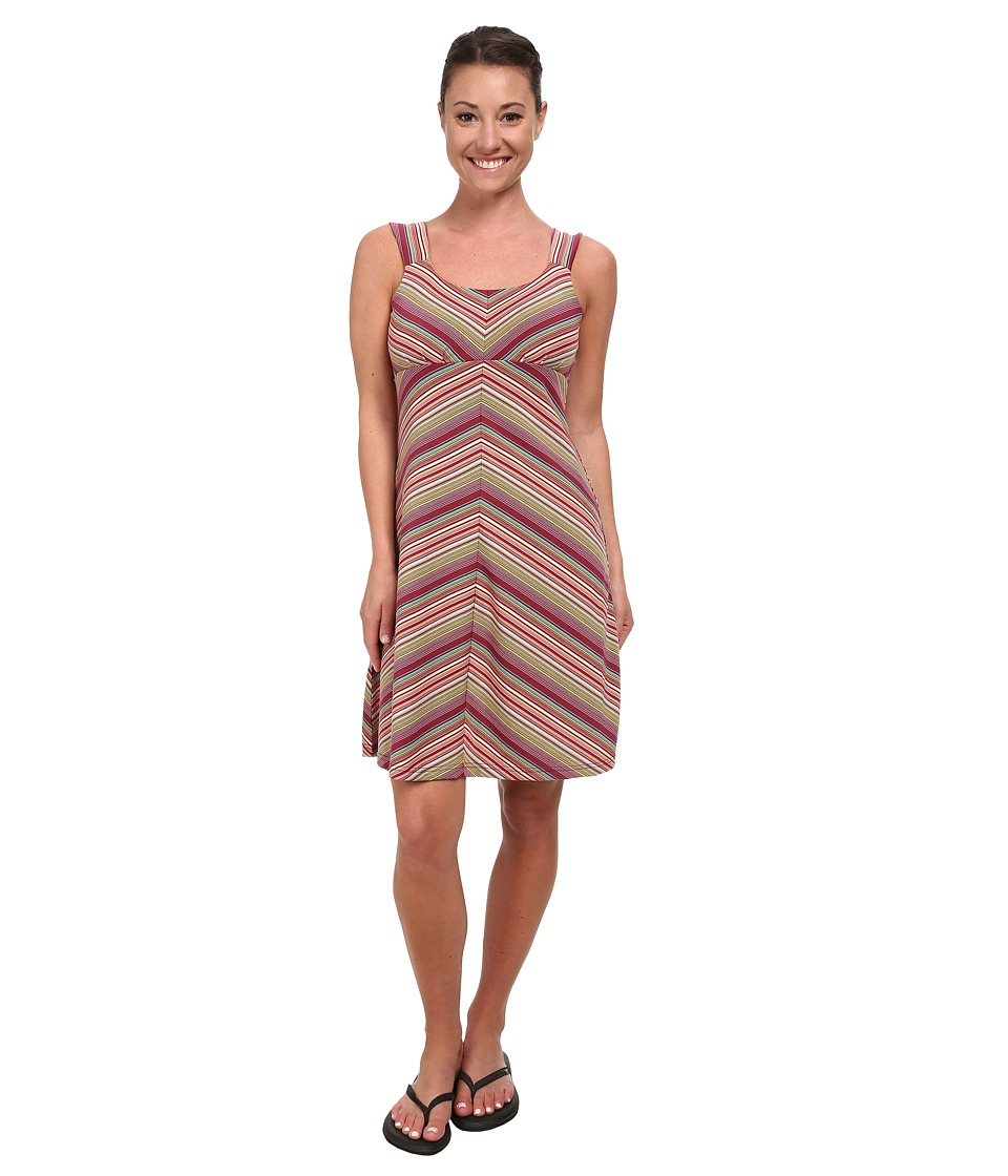 Royal Robbins - Essential Tencel Stripe Tank Dress (Raspberry) Women's Dress