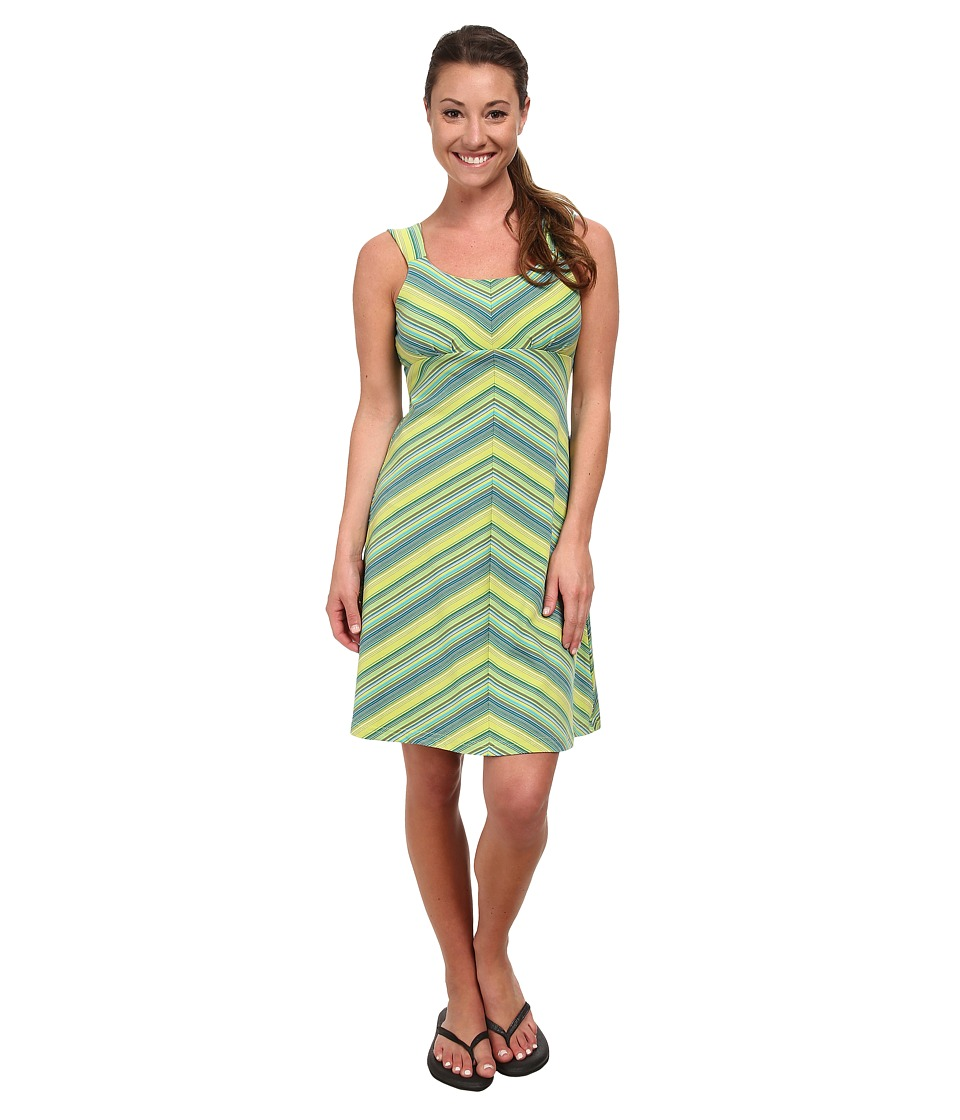 Royal Robbins Essential Tencel Stripe Tank Dress (Lime Zest) Women