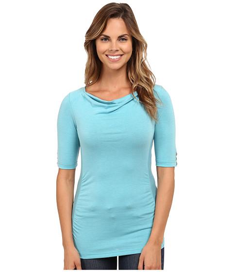 Royal Robbins - Essential Tencel Cowl Neck (Aqua) Women's Clothing