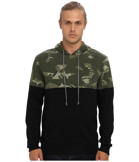 Alternative - Color Block Light French Terry Hoodie (Black/Paintbrush Camo) Men
