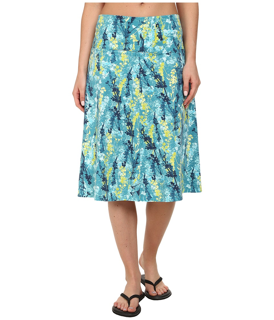 Royal Robbins - Essential Blossom Skirt (Dark Aqua) Women's Skirt