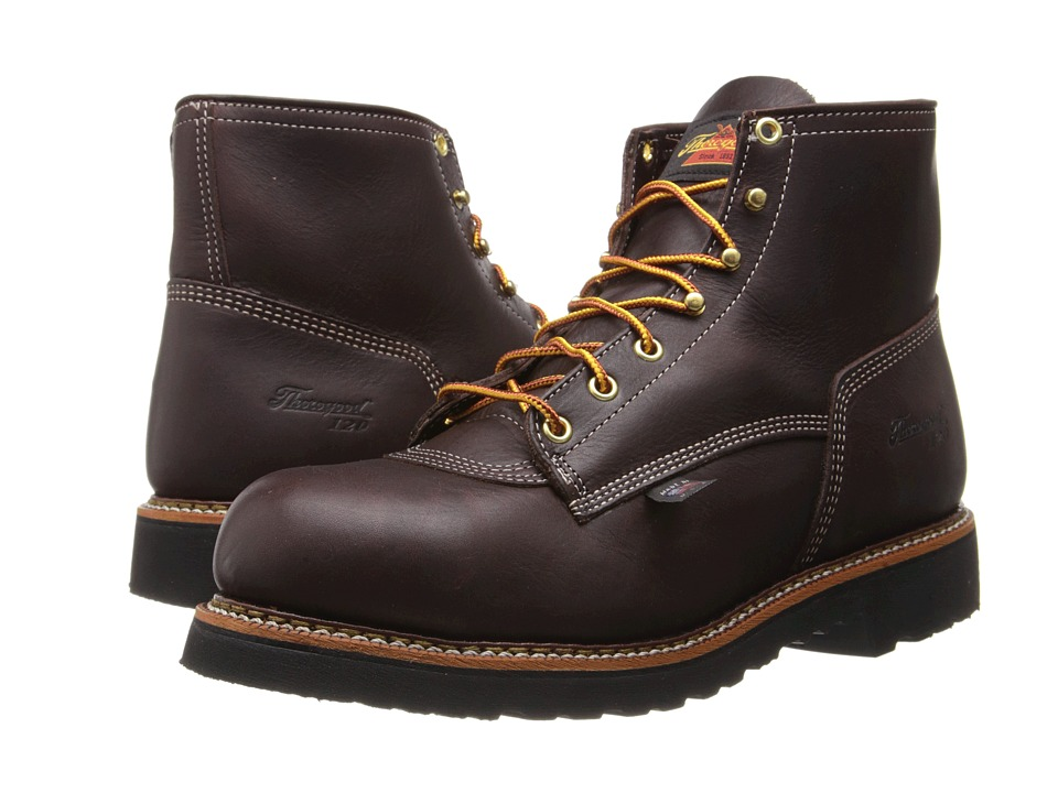 Thorogood - 6 Inch Safety Toe (Black Walnut) Men