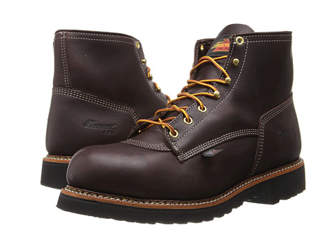 Thorogood - 6 Inch Safety Toe (Black Walnut) Men's Work Boots