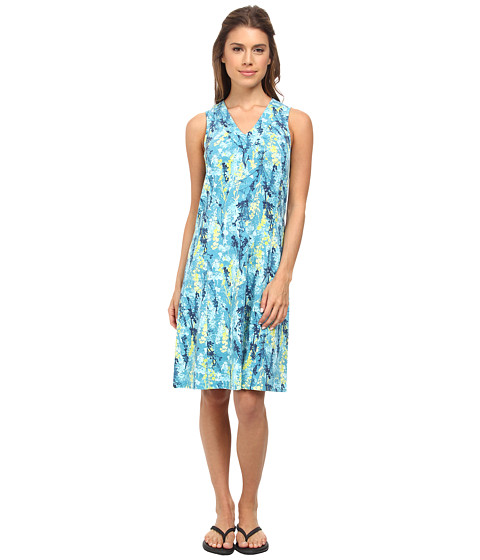 Royal Robbins - Essential Blossom Tank Dress (Dark Aqua) Women