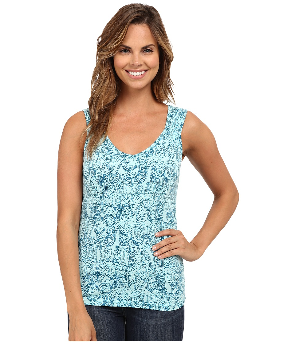 Royal Robbins - Essential Henna Tank (Aqua) Women's Sleeveless