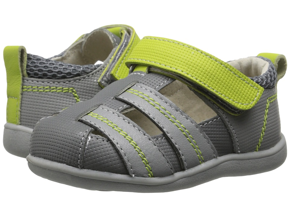 See Kai Run Kids - Ryan II (Toddler) (Gray) Boys Shoes