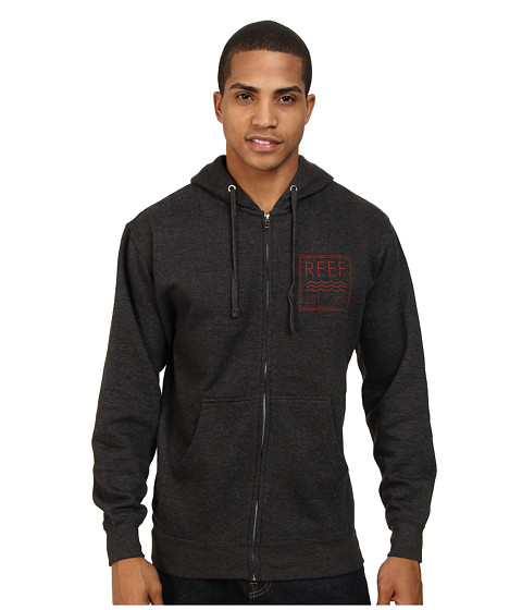 Reef - Club Zip Fleece (Charcoal Heather) Men's Sweatshirt