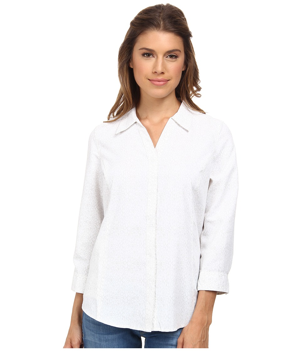 Royal Robbins Expedition Stretch 3/4 Sleeve Print (White) Women