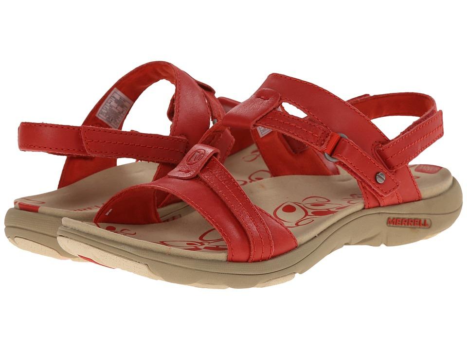 Merrell - Swivel Leather (Wild Poppy) Women's Sandals
