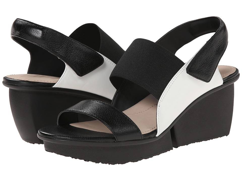 Naya Sammy (Black/White Leather) Women