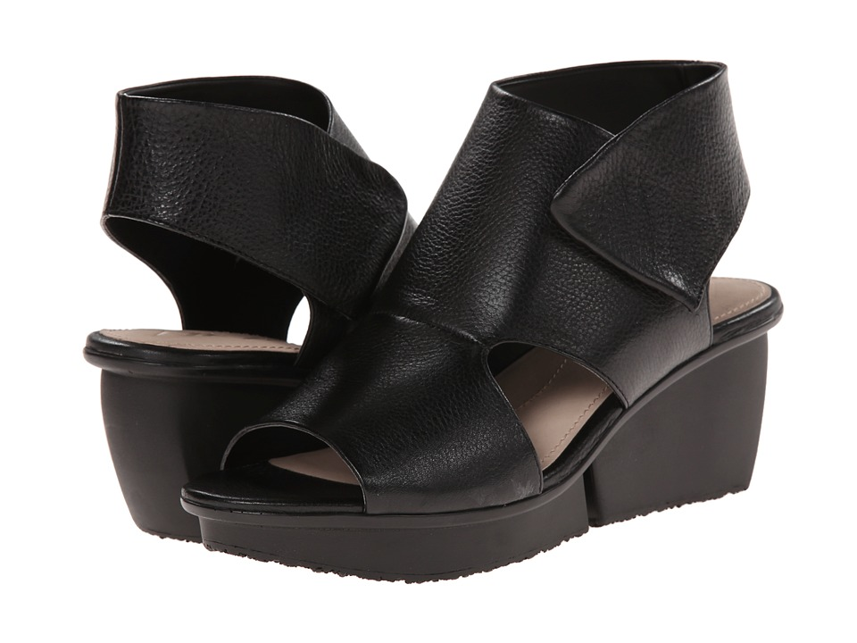 Naya - Seeker (Black Leather) Women's Wedge Shoes