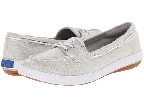 Keds - Glimmer Boat Brushed Twill (Silver Brushed Twill) Women