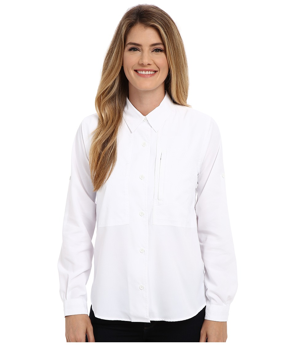 Royal Robbins - Expedition Stretch L/S (White) Women's Long Sleeve Button Up